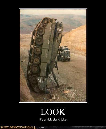 cliff,fallen,hilarious,joke,kickstand,tank