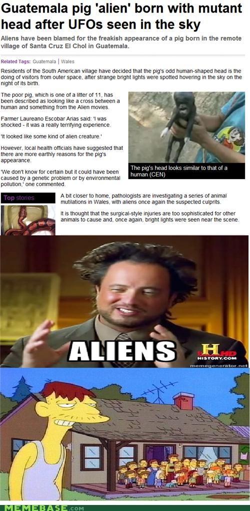 Aliens,cletus,Memes,simpsons,sneaky