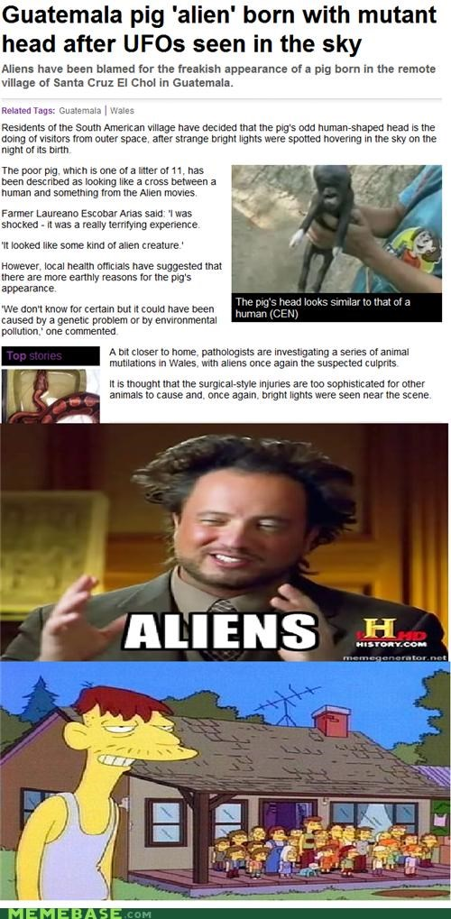 Aliens cletus Memes simpsons sneaky - 5173864704