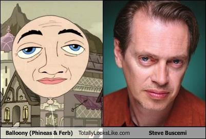 balloon,balloony,cartoons,cartoon characters,eyes,phineas and ferb,steve buscemi