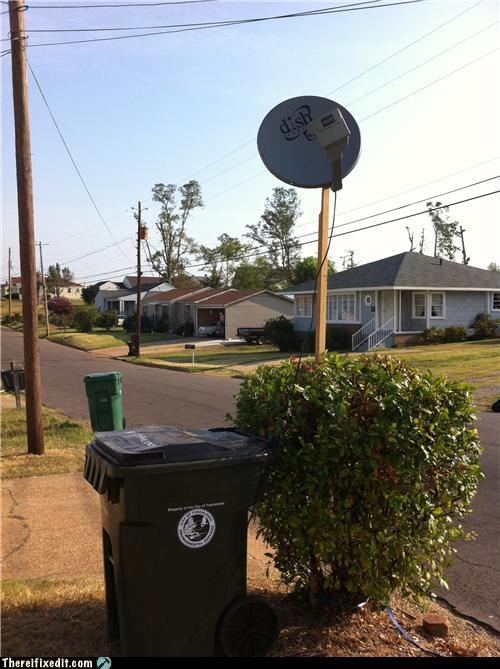football holding it up home improvement satellite dish television - 5173972480