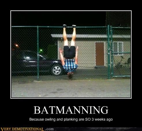 batmanning facebook hilarious owling Planking - 5174165504