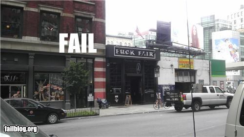 bar failboat missing letter nyc store name swear words - 5174183936