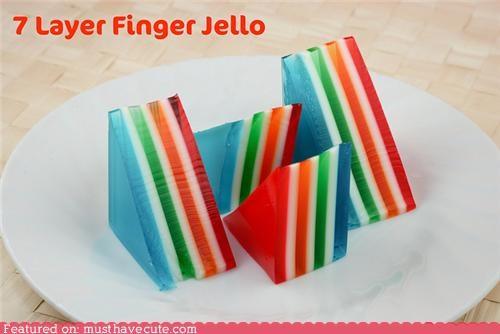 best of the week colorful dessert epicute gelatin Jello layers rainbow snack - 5174255872