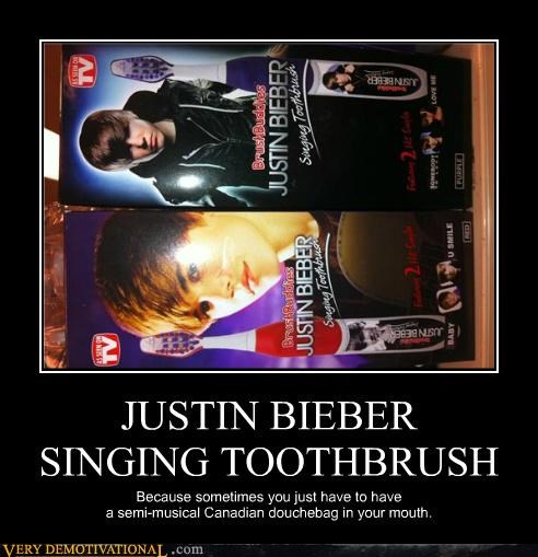 wtf funny justin bieber toothbrush - 5174261248