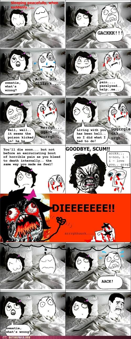 comic,dream,poisoned,rage comic,revenge,We Are Dating