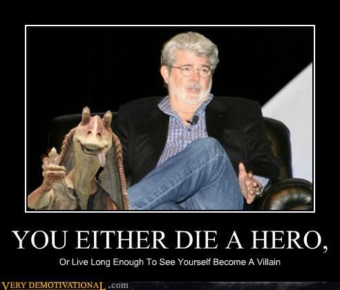 crappy george lucas Sad villain - 5174350592