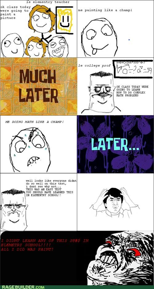 college,elementary school,math,Rage Comics