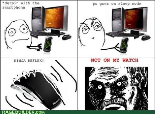 computer,Rage Comics,reflex,sleep mode