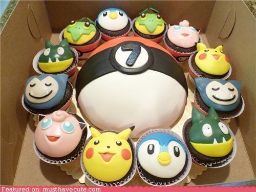 cake,cupcakes,epicute,fondant,Pokémon