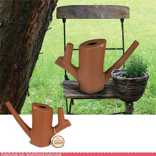 garden log tool watering can