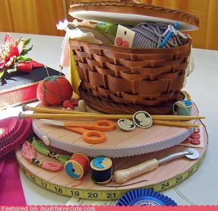 amazing art basket cake craft epicute fondant sewing - 5174442752