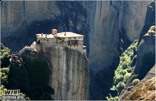 architecture,cliff,design,greece,home,mansion,mountain,palace
