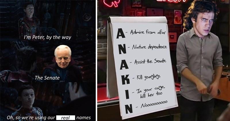 Funny star wars shitposts, dank star wars memes, prequel memes.