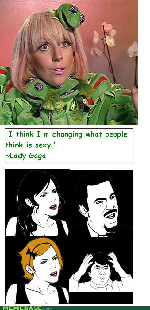 gaga,kermit,lady,Rage Comics,sey,what