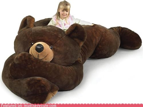 bear huge Plush teddy bear toy - 5174889472