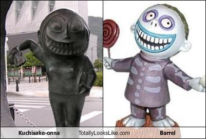 barrel cartoons cartoon characters classics Japan Kuchisake-onna mythology the nightmare before christmas