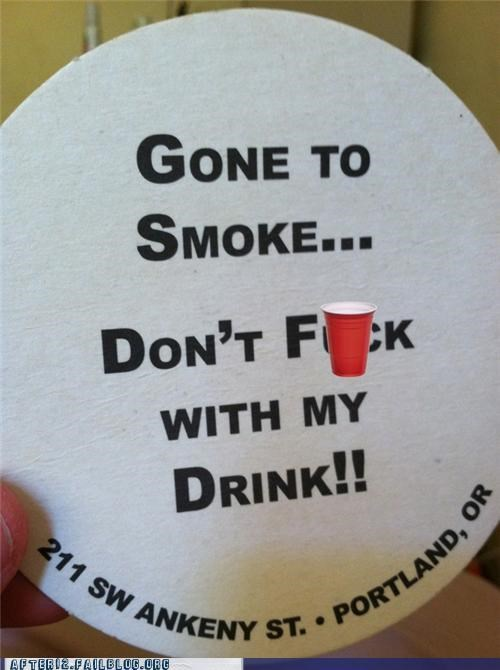 bar coaster drinking essentials pub smoking - 5175282944