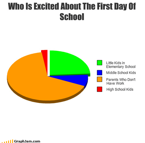 parents,Pie Chart,school,summer