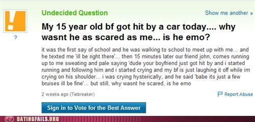 accident car emo We Are Dating yahoo answers - 5175418880