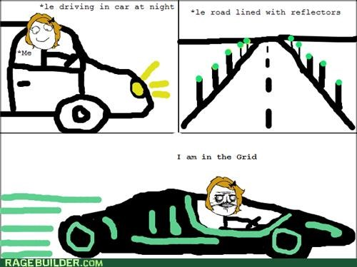 driving grid Rage Comics tron - 5176143616