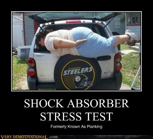 car hilarious Planking shock absorber