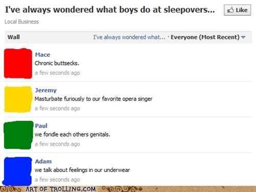 Awkward boys facebook sleepovers