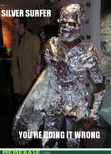 Aliens bandit black Memes silver surfer - 5177447680