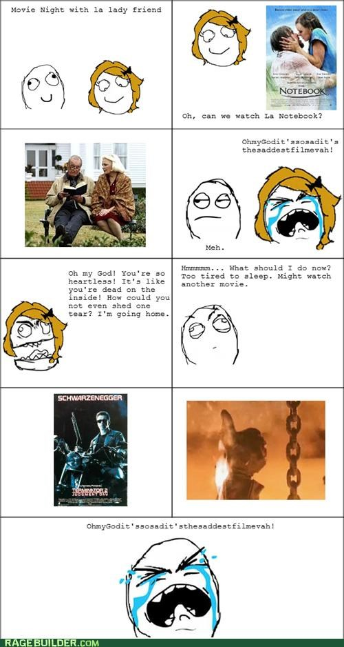 chick flicks,cry,movies,Rage Comics,Sad
