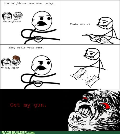 beer,gun,Rage Comics,theft