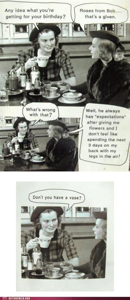 birthday,comic,gift,roses,vintage,We Are Dating