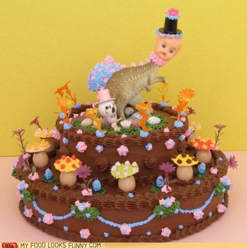 baby,cake,dinosaur,Mushrooms,scary,toys