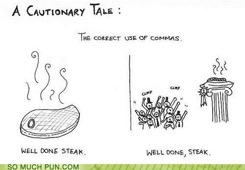 adjective comma grammar Hall of Fame punctuation steak verb - 5177819904
