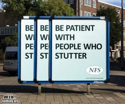 advertising clever psa public service sign speech impediment stutter - 5177829888