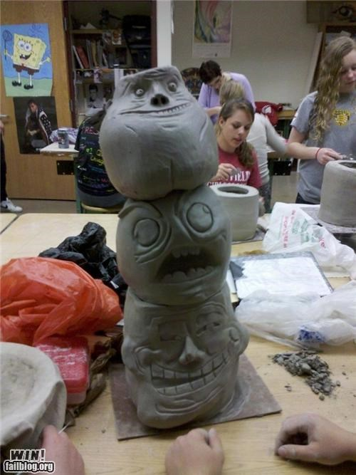 art comic comics internet Memes memes IRL rage rage faces school sculpture - 5177843456