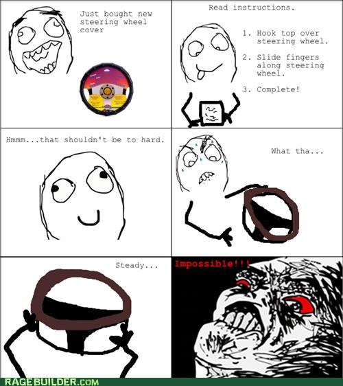 annoying car Rage Comics steering wheel cover - 5177850368