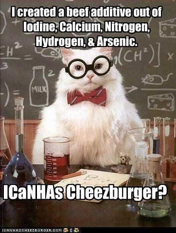 cheezburger cheezburgers chemistry cat delicious food frankenstein memecats Memes meta puns self referential - 5178036736