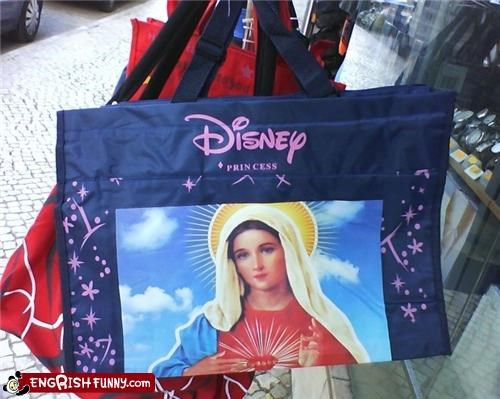 bag disney fashion Hall of Fame knockoff princess virgin mary wrong