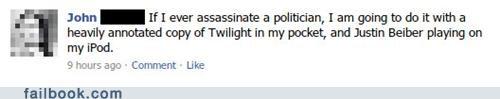 assassination justin bieber politics twilight - 5178098176