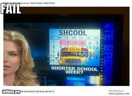 back to school Chyron failboat g rated Probably bad News school spelling typo - 5178107904