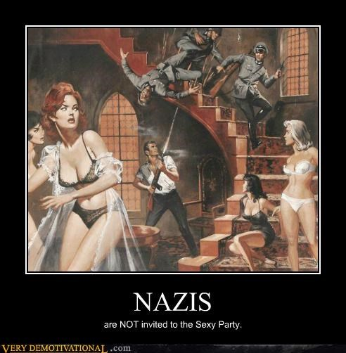 fight hilarious nazis sexy party