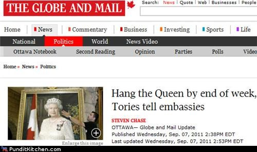 Canada FAIL Hall of Fame political pictures Queen Elizabeth II - 5178165248
