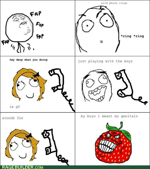 faptimes,genitals,Rage Comics,strawberry guy