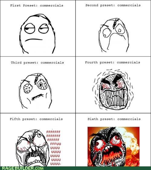 annoying,commercials,radio,Rage Comics