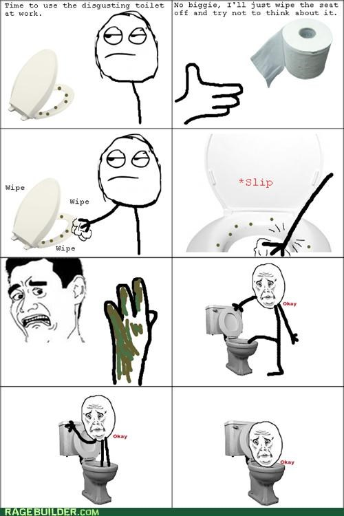 gross,okay face,Rage Comics,toilet