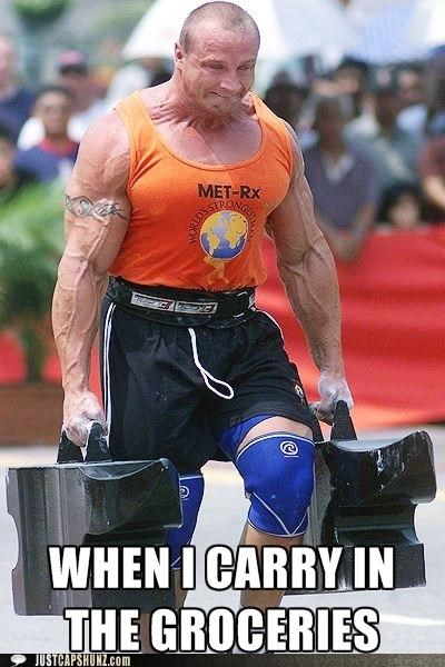 body builders groceries muscles strong weights - 5178366464