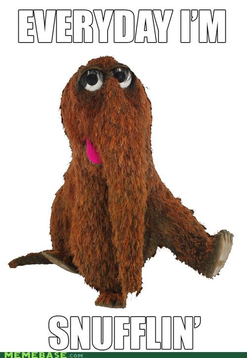 Snuffleluffagus is in the house tonight