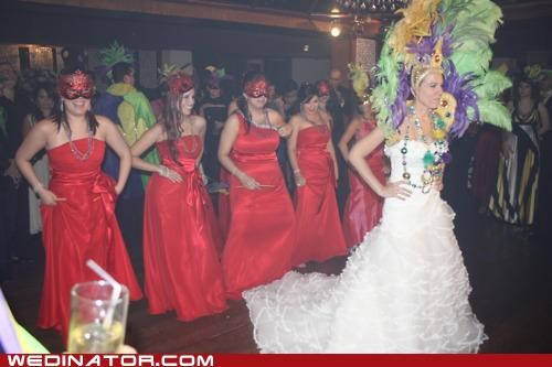 funny wedding photos Mardi Gras masks new orleans - 5178743296