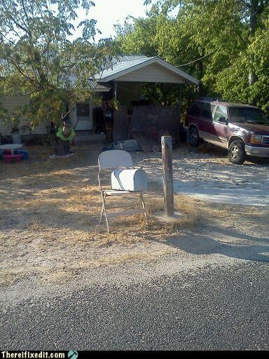 chair holding it up mailbox - 5178882048