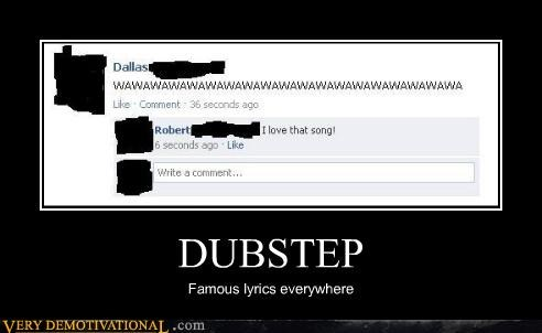 dubstep,facebook,hilarious,lyrics